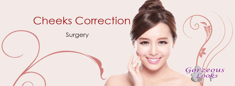 cheeks correction surgery